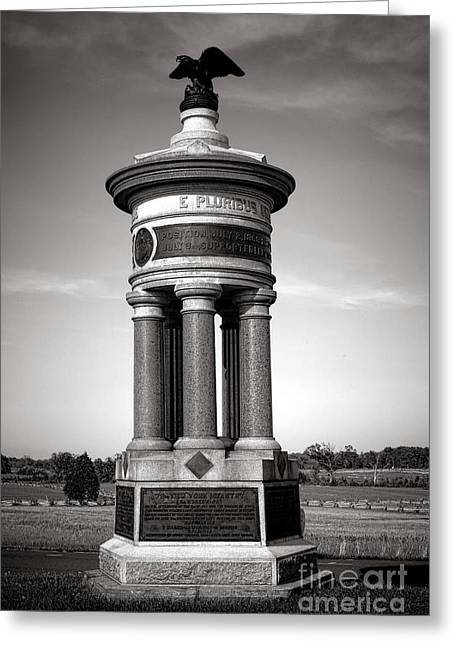 Dedicated Greeting Cards - Gettysburg National Park 71st and 72nd New York Infantry Monument Greeting Card by Olivier Le Queinec