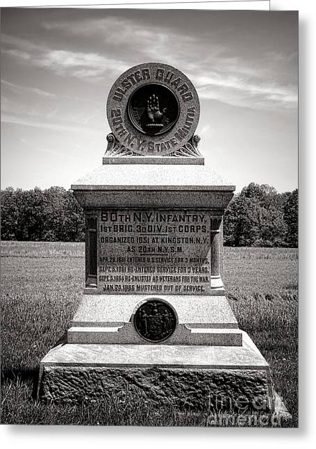 Gettysburg National Park 80th New York Infantry Militia Monument Greeting Card by Olivier Le Queinec