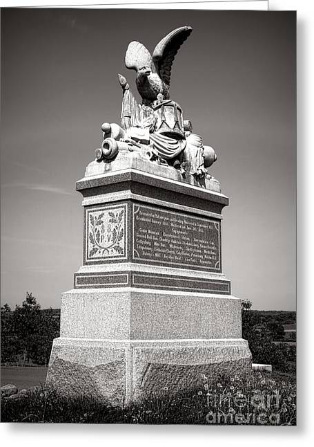 Gettysburg National Park 88th Pennsylvania Infantry Monument Greeting Card by Olivier Le Queinec