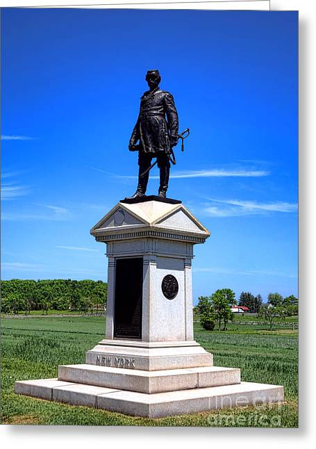 Major General Greeting Cards - Gettysburg National Park Abner Doubleday Memorial Greeting Card by Olivier Le Queinec