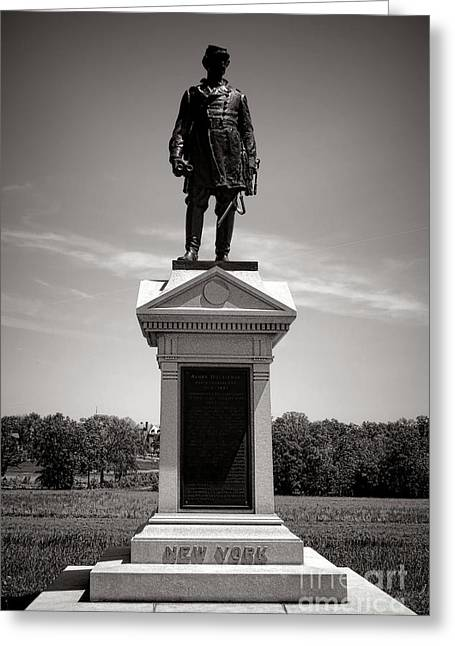 Confederate Monument Greeting Cards - Gettysburg National Park Abner Doubleday Monument Greeting Card by Olivier Le Queinec