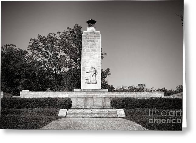 Confederate Monument Greeting Cards - Gettysburg National Park Eternal Light Peace Monument Greeting Card by Olivier Le Queinec