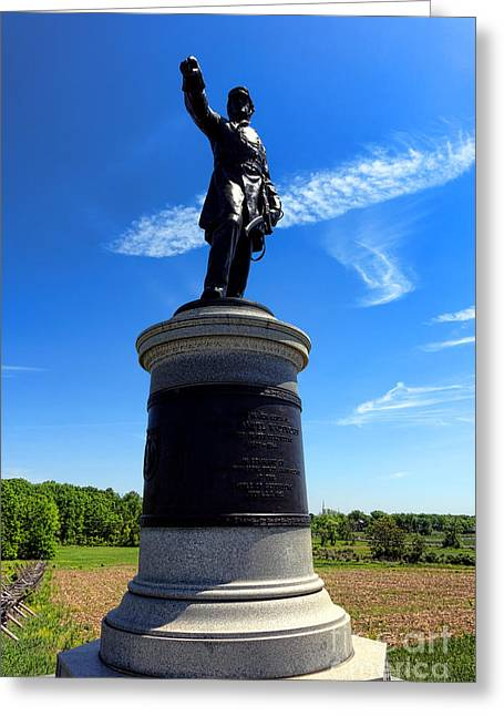 Major General Greeting Cards - Gettysburg National Park James Samuel Wadsworth Memorial Greeting Card by Olivier Le Queinec