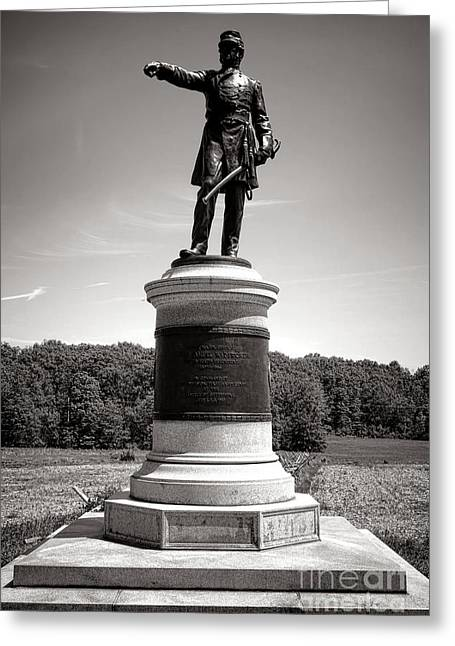 Major General Greeting Cards - Gettysburg National Park James Samuel Wadsworth Monument Greeting Card by Olivier Le Queinec
