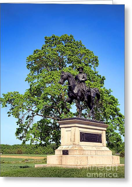 Dedicated Greeting Cards - Gettysburg National Park John Fulton Reynolds Memorial Greeting Card by Olivier Le Queinec