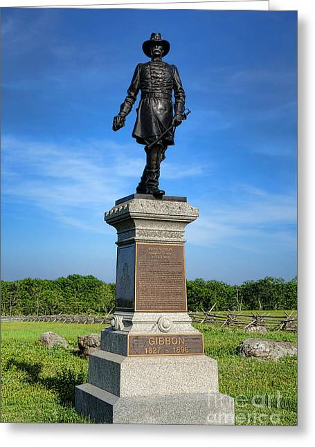 Dedicated Greeting Cards - Gettysburg National Park John Gibbon Memorial Greeting Card by Olivier Le Queinec