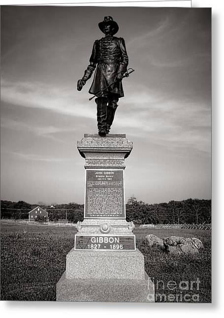 Major General Greeting Cards - Gettysburg National Park John Gibbon Monument Greeting Card by Olivier Le Queinec