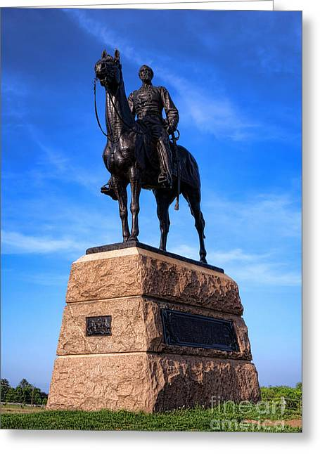 Major General Greeting Cards - Gettysburg National Park Major General George Mead Memorial Greeting Card by Olivier Le Queinec