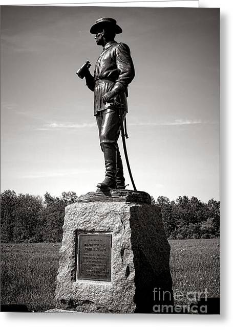 Dedicated Greeting Cards - Gettysburg National Park Major General John Buford Monument Greeting Card by Olivier Le Queinec