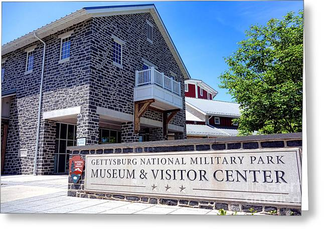 Gettysburg Greeting Cards - Gettysburg National Park Museum and Visitor Center Greeting Card by Olivier Le Queinec