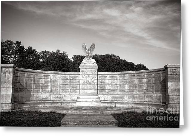 Dedicated Greeting Cards - Gettysburg National Park New York Auxiliary Monument Greeting Card by Olivier Le Queinec