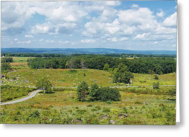Devils Den Greeting Cards - Gettysburg Panoramic Greeting Card by Traci Law