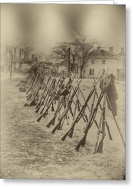 Gettysburg Surrender Greeting Card by John Haldane