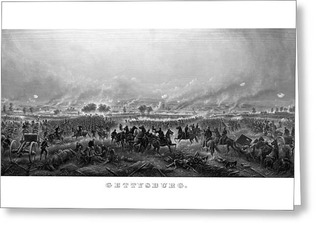 American Civil War Drawings Greeting Cards - Gettysburg Greeting Card by War Is Hell Store