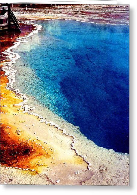 Geyser Basin Greeting Card by Nancy Mueller