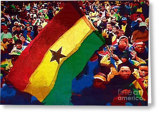 Ghana Greeting Cards - Ghana Event Greeting Card by Deborah MacQuarrie