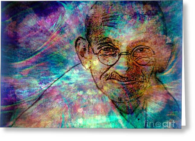 Ghandi Greeting Card by WBK