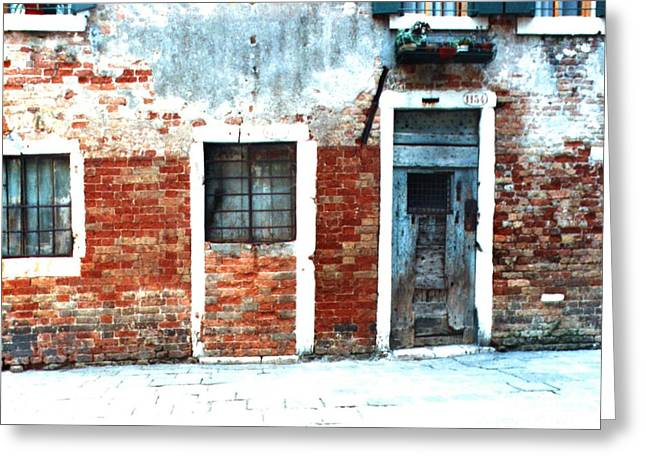 Inhabitated Greeting Cards - Ghetto Living  Venice Greeting Card by Merton Allen