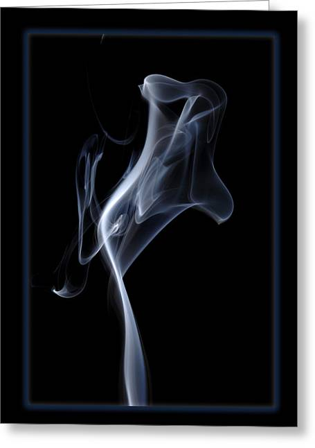 Smoke Art Greeting Cards - Ghost Greeting Card by Bryan Steffy