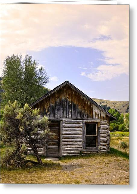 ist Photographs Greeting Cards - Ghost Cabin In Bannack Greeting Card by Image Takers Photography LLC - Laura Morgan