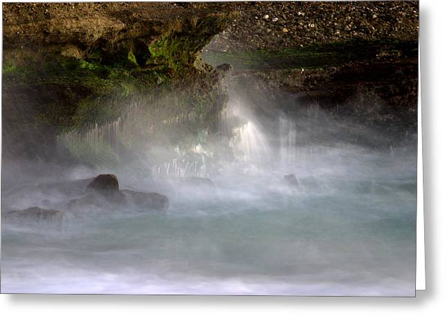 Abstract Waterfall Greeting Cards - Ghost falls Greeting Card by Brad Scott