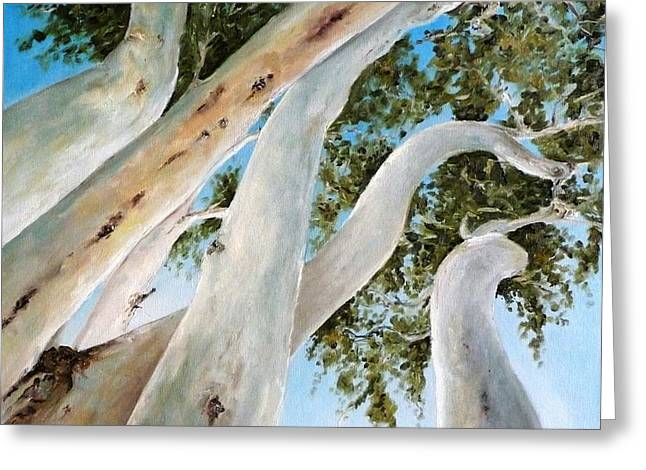 Diko Greeting Cards - Ghost Gum Snakes Greeting Card by Diko