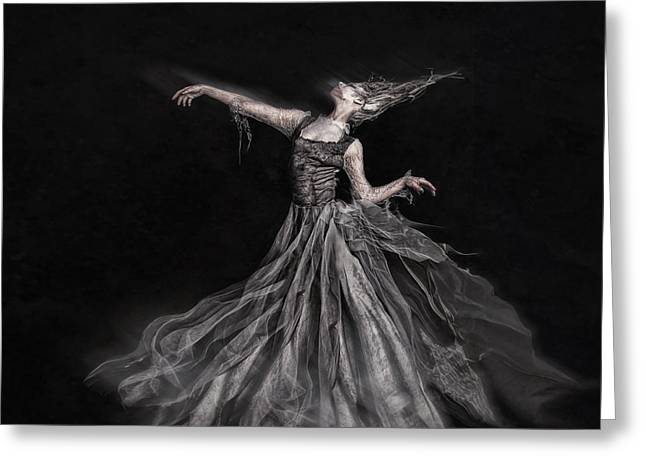 Long Dress Mixed Media Greeting Cards - Ghost of the Revolution Greeting Card by Spokenin RED