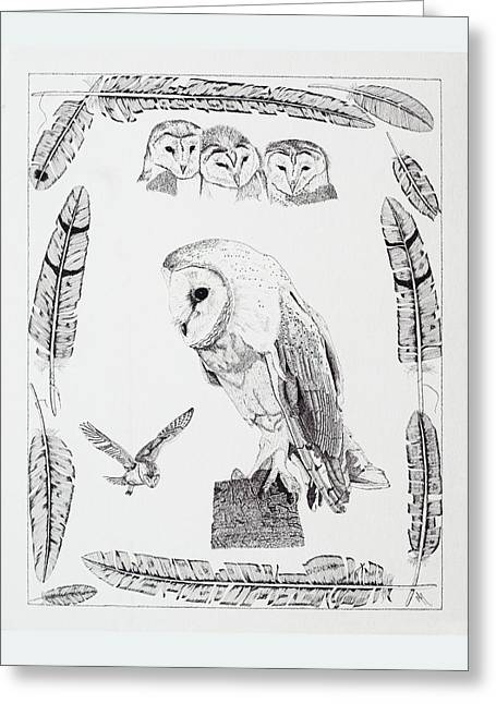 Mchugh Greeting Cards - Ghost Owl Greeting Card by Malc McHugh