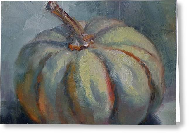 Ghost Pumpkin Greeting Card by Donna Shortt