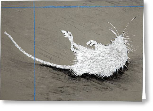 Mouse Pastels Greeting Cards - Ghost Rodent Greeting Card by John Terwilliger