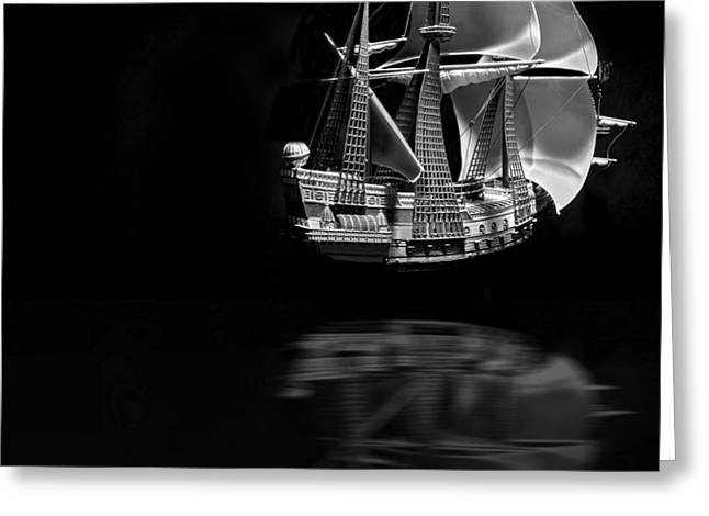 Pirate Ships Greeting Cards - Ghost Ship Infrared Greeting Card by Robert Storost