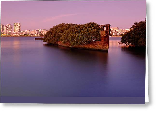 Mangrove Forest Greeting Cards - Ghost Ship Greeting Card by Nicholas Blackwell
