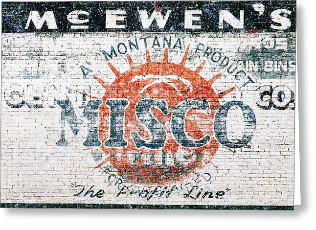 Ghost Sign Greeting Card by Todd Klassy