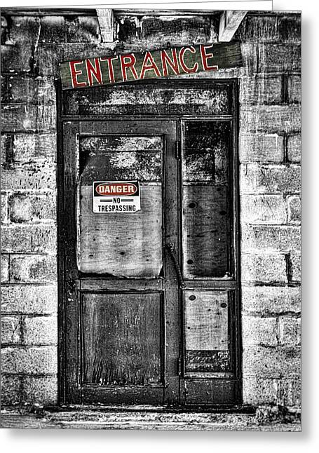 Ghost Town Door Greeting Card by Stuart Litoff