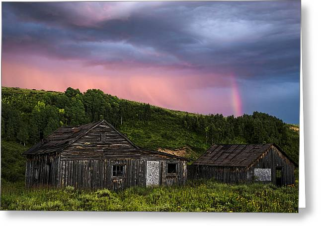 Ghost Town Sunset 3 Greeting Card by Dave Dilli