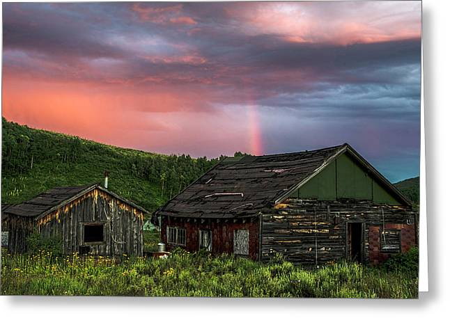 Ghost Town Sunset 4 Greeting Card by Dave Dilli