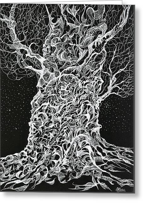 Ghost Tree Greeting Card by Charles Cater