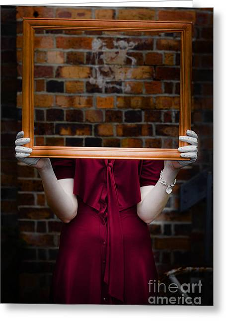 Ghost Hand Greeting Cards - Ghost With Picture Frame Greeting Card by Ryan Jorgensen