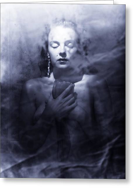 Bedroom Greeting Cards - Ghost woman Greeting Card by Scott Sawyer