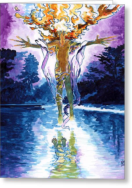 Ghost Story Greeting Cards - Ghostlake Greeting Card by Ken Meyer jr