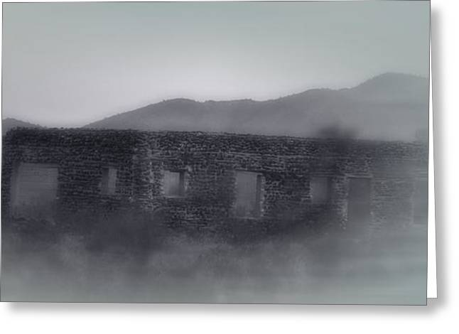 Recently Sold -  - Old Western Photos Greeting Cards - Ghostly Old Western Mirage Greeting Card by Linda Phelps