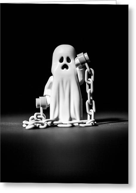 Recently Sold -  - Lego Greeting Cards - Ghostly Greeting Card by Samuel Whitton