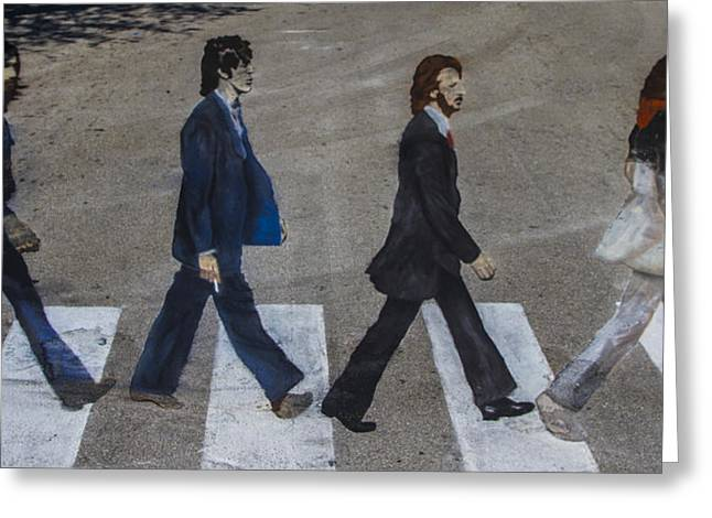 Ghosts of Abby Road Greeting Card by Debra and Dave Vanderlaan