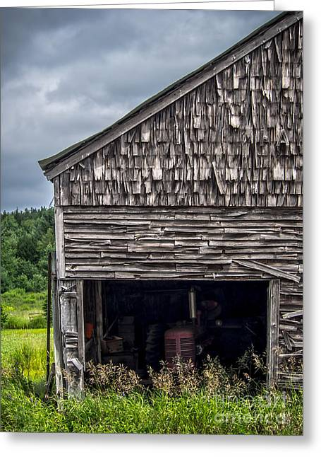 Barn Door Greeting Cards - Ghosts of Farmings Past 2 Greeting Card by James Aiken