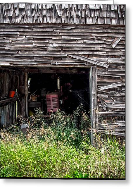 Barn Door Greeting Cards - Ghosts of Farmings Past 3 Greeting Card by James Aiken