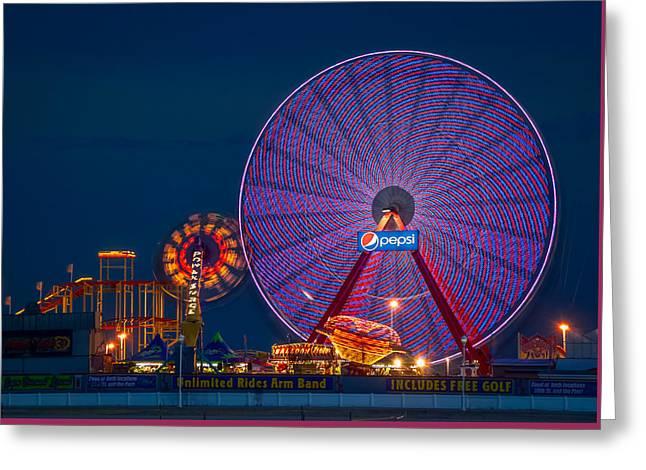 Amusements Greeting Cards - Giant Ferris Wheel Greeting Card by Wayne King