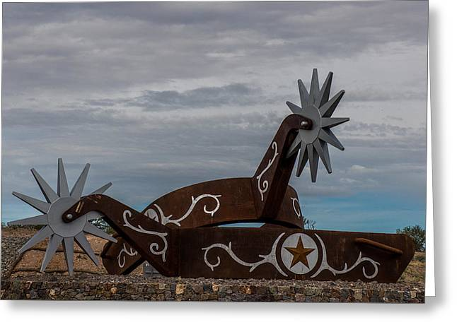 Giant Spurs Greeting Card by Paul Freidlund