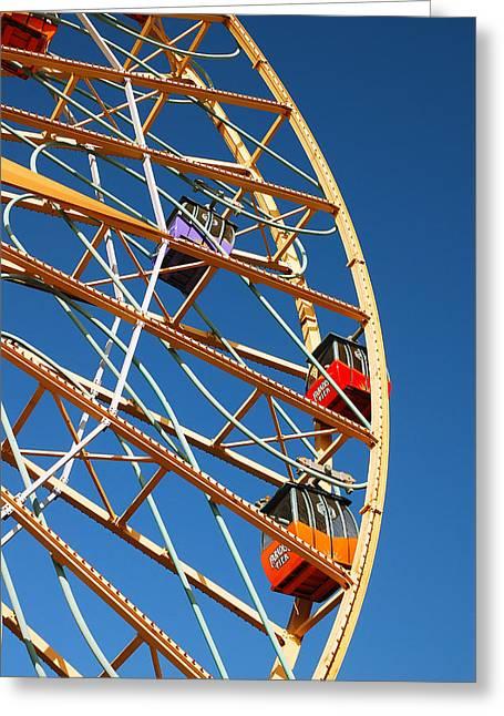 Mickeys Fun Wheel Greeting Cards - Giant Wheel Greeting Card by James Kirkikis