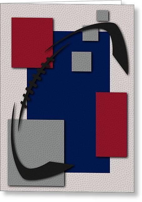 Giants Football Art Greeting Card by Joe Hamilton