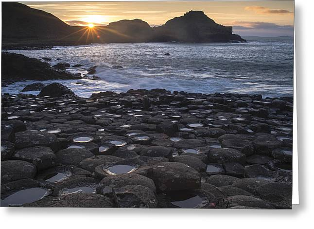 Fionn Mac Cumhaill Greeting Cards - Giants Sunset Greeting Card by Euan Cherry